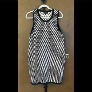 ANN TAYLOR PETITE Shift Dress Navy/White Size LP